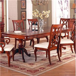 Holland House King Louis Double Pedestal Rectangular Dining Table