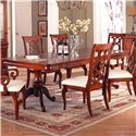 Holland House King Louis Double Pedestal Rectangular Dining Table - 458-4496T+4496B