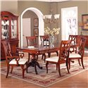 Holland House King Louis Double Pedestal Rectangular Dining Table - 458-4496T+4496B - Dining Table Shown with Chairs