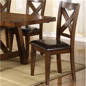 Morris Home Furnishings Norwalk Norwalk X Back Side Chair