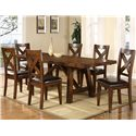 Holland House Lakeshore Colonial Trestle Table w/ Leaves - 1278-4296L - Shown with Side Chairs