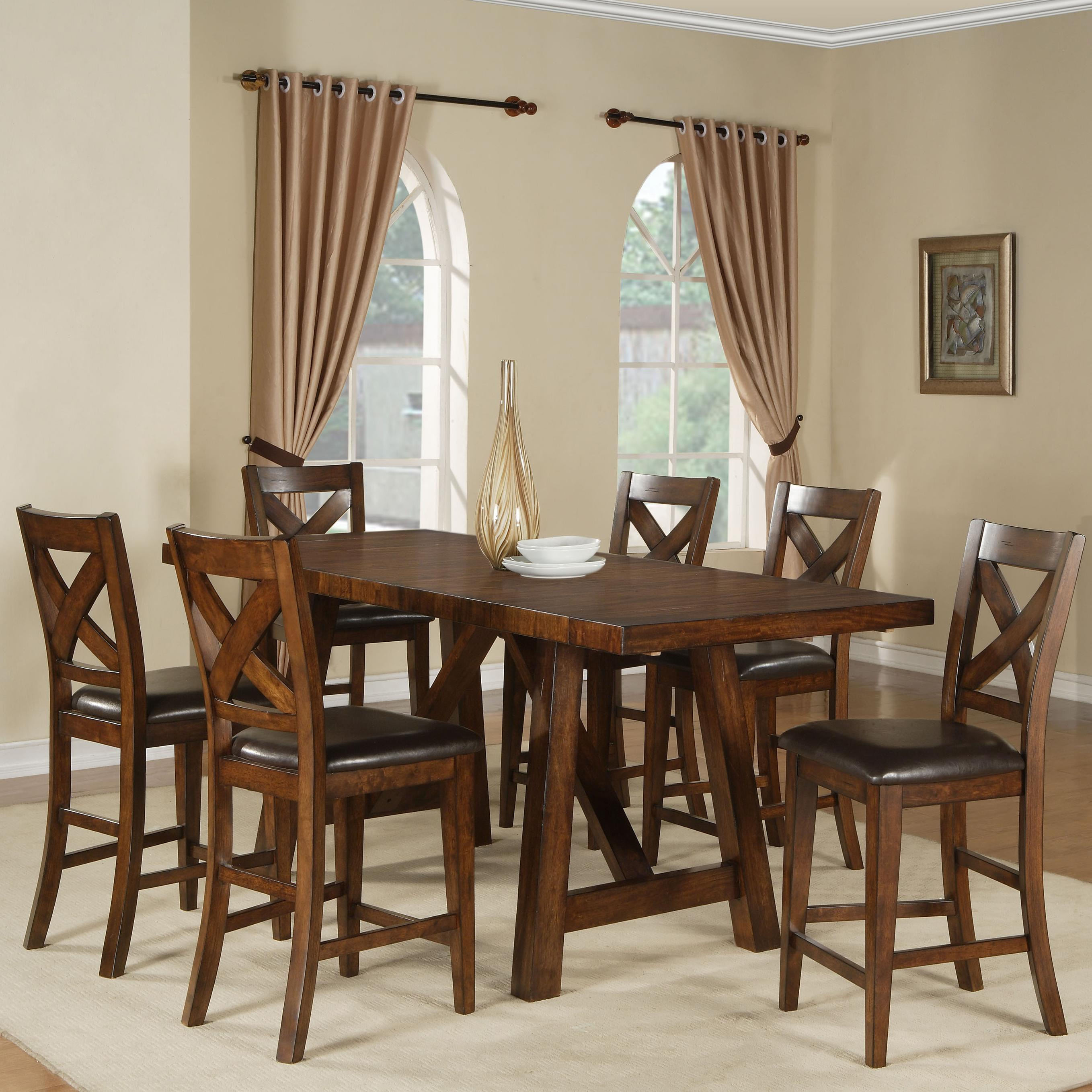 Merveilleux Holland House Lakeshore 7 Piece Counter Height Table And Stool Set