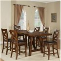 Holland House Lakeshore Colonial Pub Table w/ 2 Leaves - 1278-TPB3696 - Shown with Pub Chairs