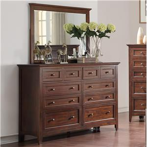 Holland House Layton Park Dresser and Mirror Set