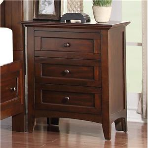 Holland House Layton Park 3-Drawer Nightstand
