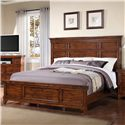 Holland House Mango Queen Panel Bed w/ Metal Accents - 2668-21H+F+R - Bed Shown May Not Represent Size Indicated
