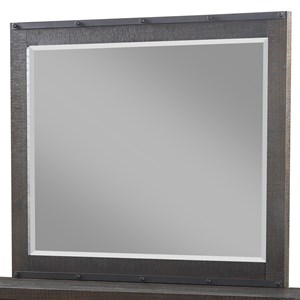 Mirror with Beveled Glass and Metal Accents