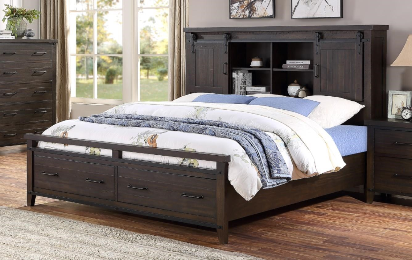 Hh Durango Queen Bookcase Bed With Storage Walker S Furniture Bookcase Beds