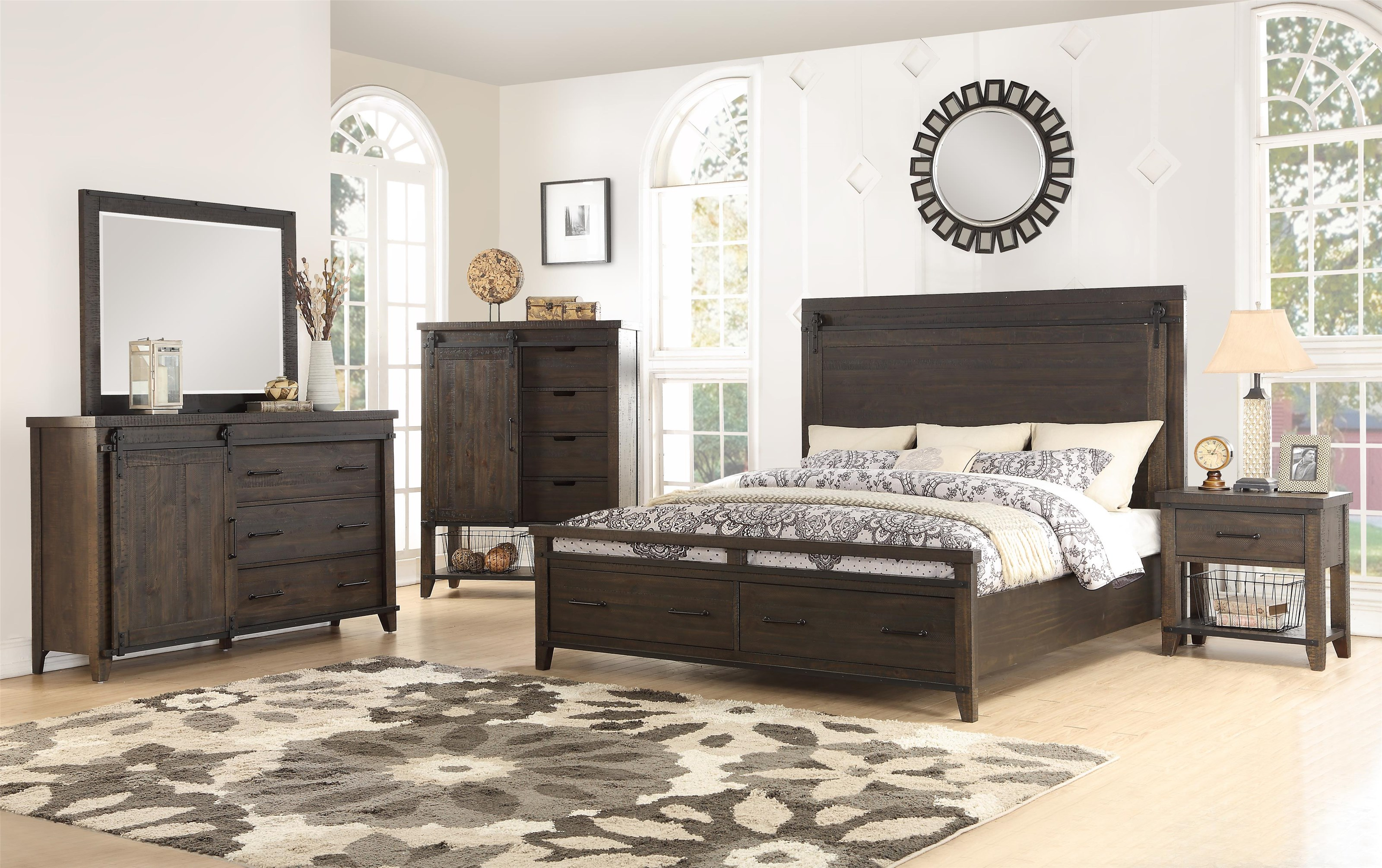 5 Piece King Storage Bedroom Group