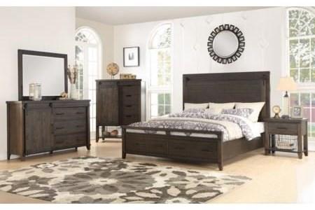 Durango 5 Piece Queen Storage Bedroom Group at Walker's Furniture