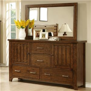 Holland House Mustang Dresser and Mirror Set
