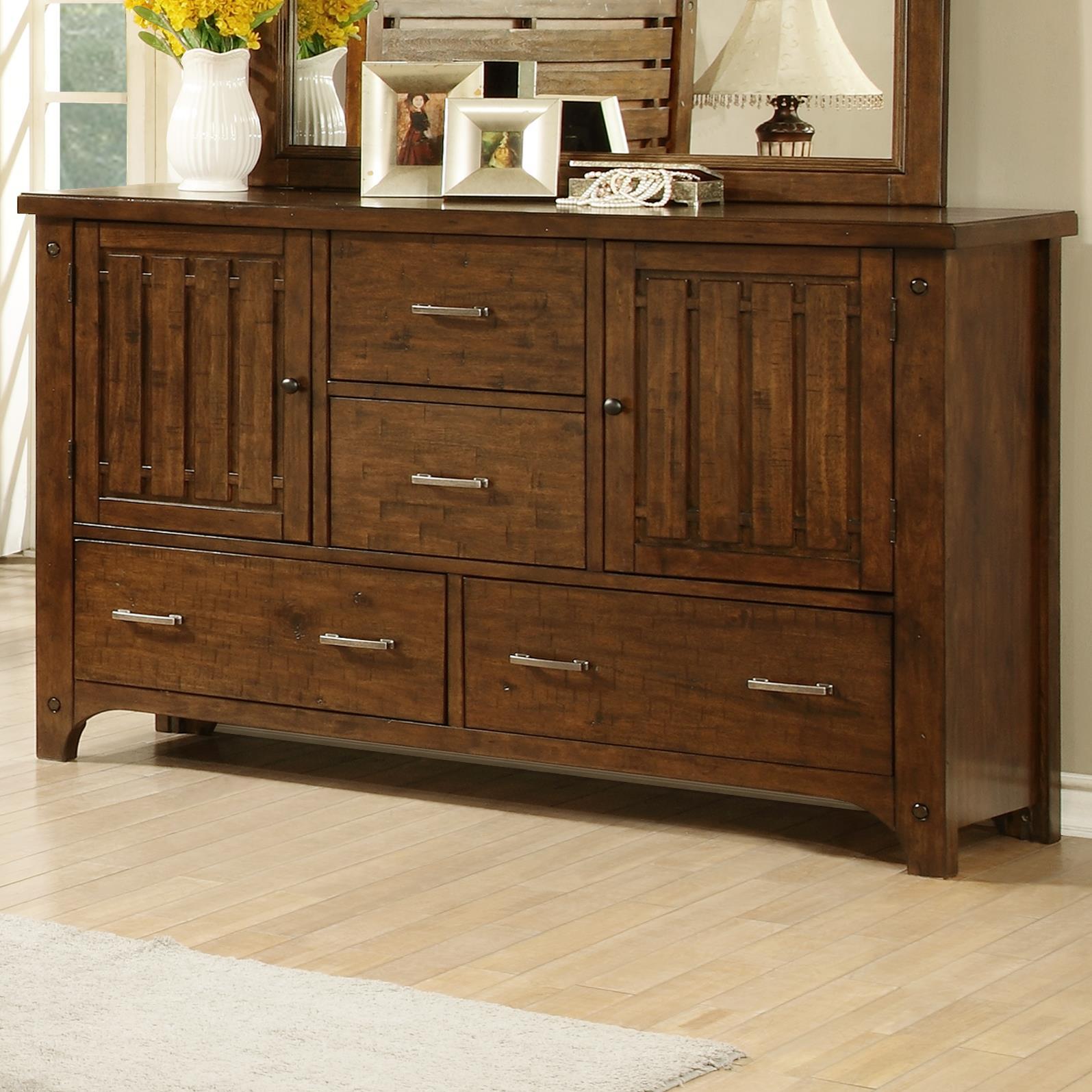 Boulder Creek Slat Drawer Dresser