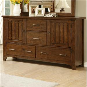 Morris Home Furnishings Boulder Creek Boulder Creek Slat Drawer Dresser