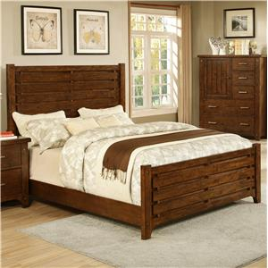 Morris Home Furnishings Boulder Creek Boulder Creek Queen Slat Bed