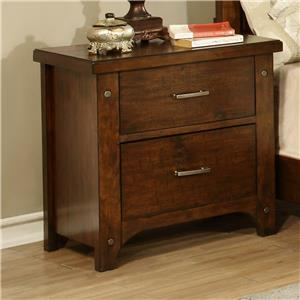 Morris Home Furnishings Boulder Creek Boulder Creek  Bedside Chest/Night Stand