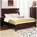 Holland House New York  King Platform Bed w/ Tapered Feet  - 489-50H+F+49R - Bed Shown May Not Represent Size Indicated