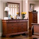 Holland House Nicolet 6 Drawer Dresser - 401-01 - Shown with mirror