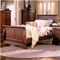 Holland House Nicolet Twin Sleigh Bed - 401-19H+19F+19R - Bed Shown May Not Represent Exact Size Indicated