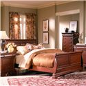 Holland House Nicolet Queen Sleigh Bed - 401-29H+29F+29R - Bed Shown May Not Represent Exact Size Indicated