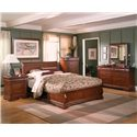 Holland House Nicolet Queen Platform Bed - 401-49H+49F+49R - Shown in room