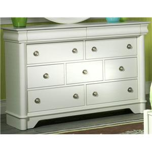 Holland House Petite Louis Seven Drawer Dresser