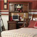 Holland House Petite Louis 2 Door, 3 Shelf Desk Hutch - 456-45 - Shown with Desk