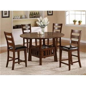 Morris Home Furnishings Pinedale Pinedale 5 Piece Counter Height Dining Set