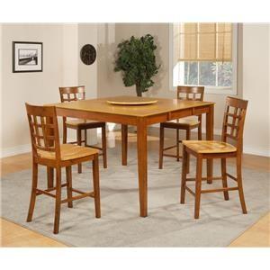 Morris Home Furnishings Ridgeway Ridgeway 5-Piece Pub Table and Chairs Set