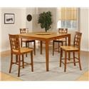 Morris Home Furnishings Ridgeway Ridgeway 5-Piece Pub Table and Chairs Set - Item Number: 388824213