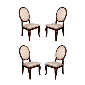 Morris Home Furnishings Roslyn Roslyn 4-Piece Dining Chair Package