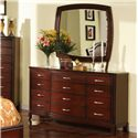 Holland House Sansom Place Dresser Mirror - 2214-04 - Shown with Dresser