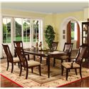 Holland House Sansom Place 7-Piece Leg Table Dining Set - 2214-4496L+2x726-A+4x725-S