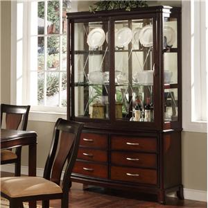 Holland House Sansom Place Sliding Door Buffet & Hutch China Cabinet