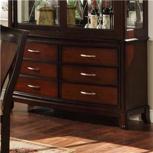 Holland House Sansom Place Buffet Base with 6 Velvet Lined Drawers