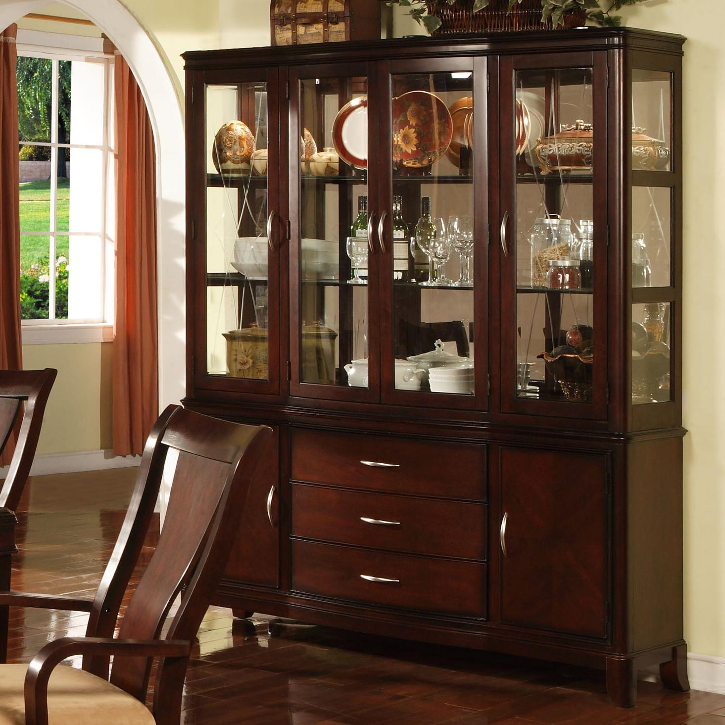 Holland house sansom place buffet hutch china cabinet
