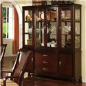 Holland House Sansom Place Buffet with 3 Velvet Lined Drawers and 2 Doors - 2214-68B - Shown with Hutch