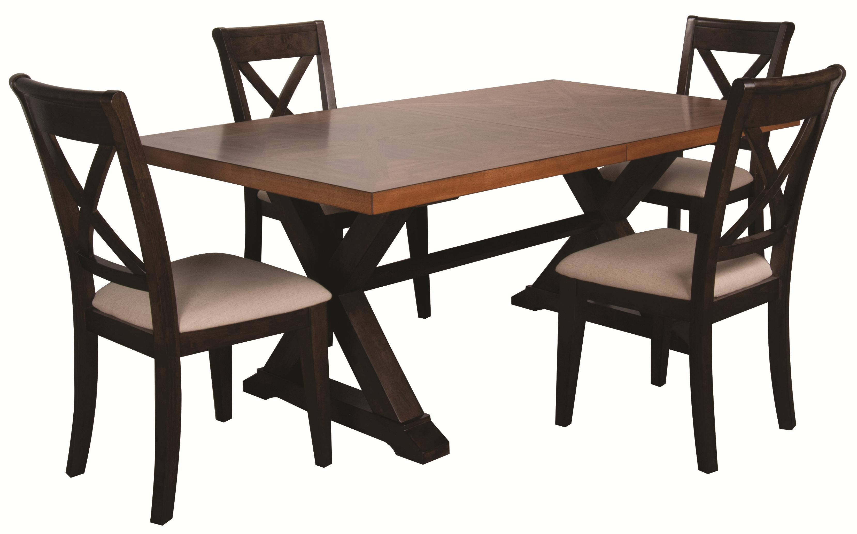 Morris Home Furnishings Saranac Saranac 5 Piece Dining Set - Item Number: 1283-4296/313-S