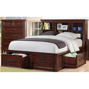 Morris Home Furnishings Sorrento 2688 Sorrento Full Bookcase Storage Bed