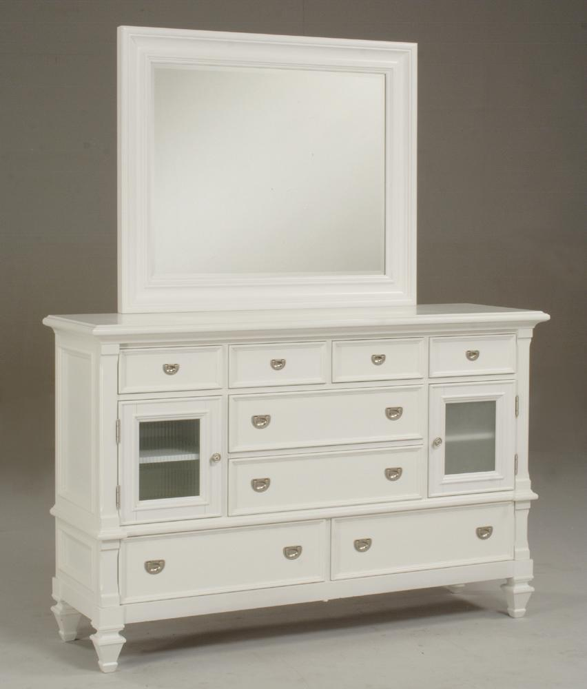 Morris Home Furnishings Surrey Surrey Door Dresser & Mirror  - Item Number: 493-03+04