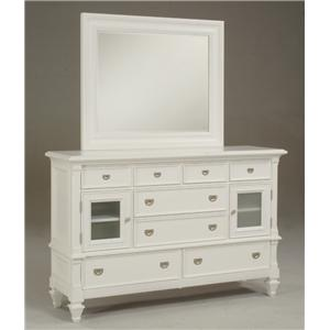 Morris Home Furnishings Surrey Surrey Door Dresser & Mirror