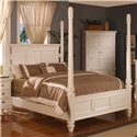Holland House Summer Breeze Queen Poster Bed - 493-25H+25F+25R