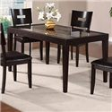 Holland House Townhouse Rectangular Dining Table with Glass Top Insert - GV107-3660