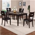 Holland House Townhouse Rectangular Dining Table with Glass Top Insert - GV107-3660 - Shown with Side Chairs