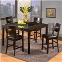 Holland House Townhouse Counter Height Gathering Table with Glass Insert - GV107-5454 - Shown with Counter Height Chairs