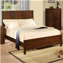 Holland House Uptown King Panel Bed with Oak Veneer - 2207-22H+22F+21R - Bed Shown May Not Represent Size Indicated