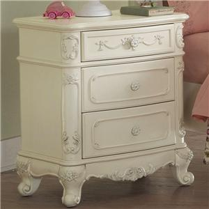 Homelegance 1386 3 Drawer Nightstand