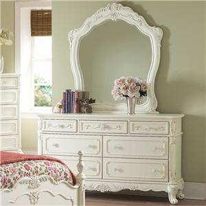Homelegance 1386 Dresser and Landscape Mirror