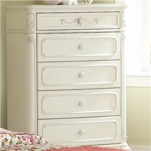 Homelegance 1386 5 Drawer Chest