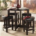 Homelegance 3219 5Pc Counter Height Dining Set - Item Number: 3219PU-36