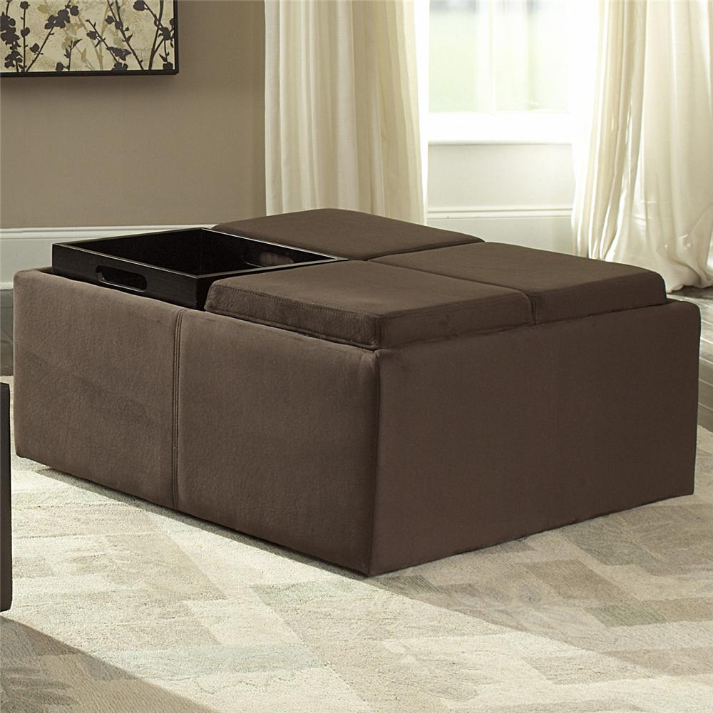 Homelegance 468 Cocktail Ottoman - Item Number: 468MC